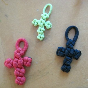 Crosses made out of paracord