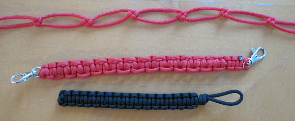 Various paracord lanyards