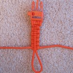 "Step 8 - Continue Cobra stitches until there is approximately 1-2"" remaining of the loop.  If your stitches are loose, leave 1"", if they are tight against each other, leave 2"".  There has to be enough of the loop remaining to pass the buckle through it when attaching the strap to the pack."