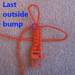"Step 10 - King Cobra stitch begins the same as the Cobra stitch.  Start with the end that is opposite the outside ""bump"" of the last Cobra stitch."