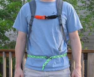 Paracord waist strap and sternum strap