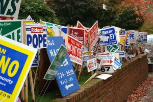Political sign clutter and junk