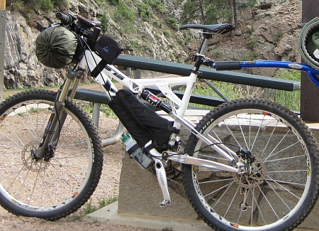 Yeti 575 Jandd frame bag for bikepacking