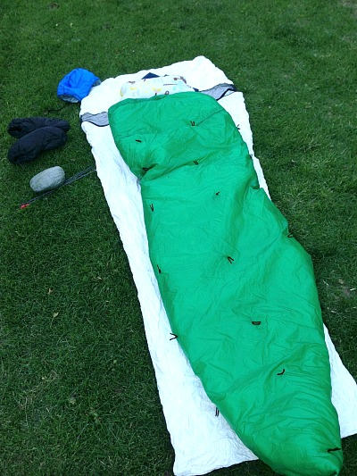 sleep system without tarp setup