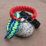 Paracord bracelets with buckles or s-biner closures with profits donated to charity