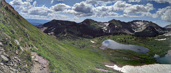 high above Taylor Lake