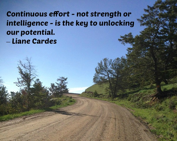 continous effort, unlocking potential