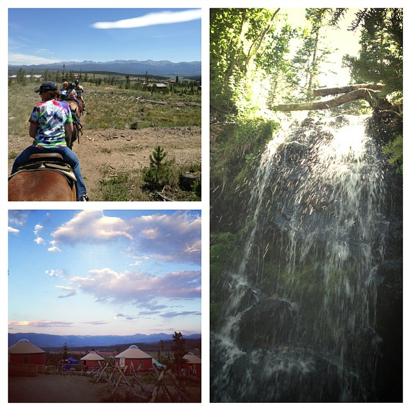 Family Camp Activities including yurts, hiking, and horses