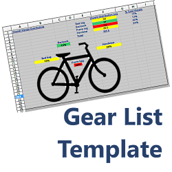 Gear List Template