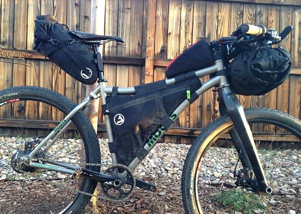 J.Paks bikepacking bags, FramePak, frame bag