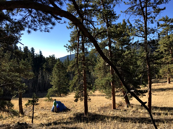 backpacking, campsite, ute creek trail