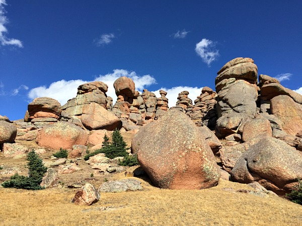 The rocks have faces, keeping watch on hikers