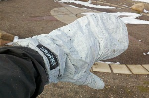Over mittens that are water and wind proof are a key winter riding element.